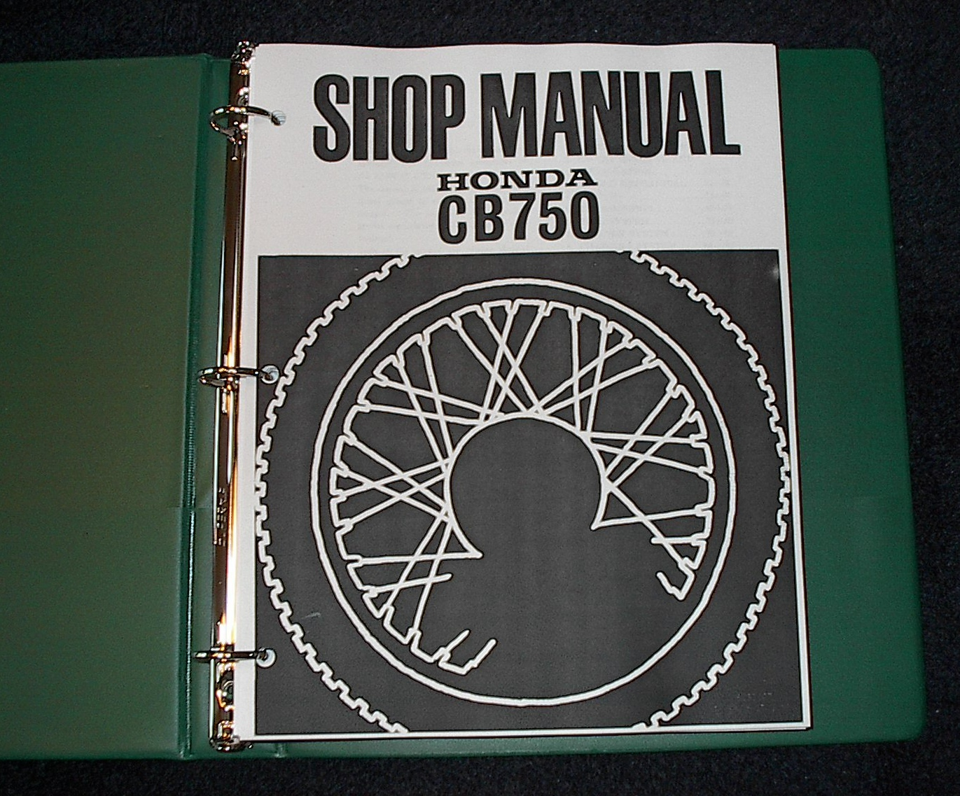 Honda CB750 -- (1969-1976) -- Shop Manual #HC623000715007606 NOTE: This  manual comes in a generic green binder. 252 pages.